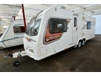 2013 Bailey Unicorn Barcelona 4 Berth Touring Caravan with Fixed Bed