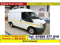 2012 - 12 - FORD TRANSIT T260 M 2.2TDCI FWD SWB SEMI HI TOP VAN (GUIDE PRICE)