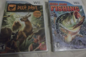 Wii Deer Dive new sealed/ and Sega bass fishing both for the wii