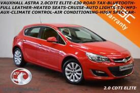 2013 Vauxhall/Opel Astra 2.0CDTi 16v (165ps) ecoFLEX (s/s) Elite-LEATHER-B.TOOTH