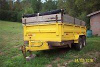 14 x 7  heavy duty dump trailer