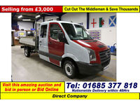 2008 - 08 - VOLKSWAGEN CRAFTER CR35 2.5TDI LWB DOUBLE CAB TIPPER (GUIDE PRICE)