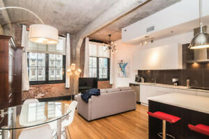 New york style all furnished loft downtown Montréal
