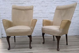 Pair Of Armchairs For Upcycling (DELIVERY AVAILABLE)