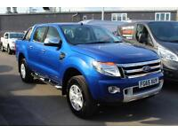 [NO VAT] Ford Ranger Limited 2.2TDCi 150PS 4x4 Double Cab in Blue + Nav - Onsite