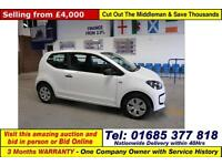 2013 - 13 - VOLKSWAGEN UP 1.0 TAKE UP 3 DOOR HATCHBACK (GUIDE PRICE)