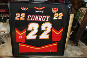 AUTHENTIC CRAIG CONROY #22 CALGARY FLAMES SIGNED FRAMED JERSEY Moose Jaw Regina Area image 1