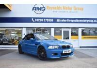 2001 51 BMW M3 CONVERTIBLE 3.2 MANUAL RARE LAGUNA SECA BLUE FINANCE AVAILABLE