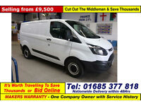 2015 - 15 - FORD TRANSIT CUSTOM 290 ECO-TECH 2.2TDCI SWB VAN (GUIDE PRICE)