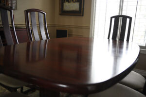 Skovby Rosewood Dining Table and Six Chairs