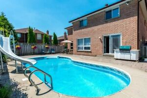 Pickering DetachedHouse for Rent 4+1Bdrm/4 Bthrm/FinBsmnt/pool
