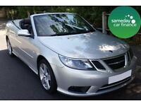 £166.64 PER MONTH SILVER 2011 SAAB 93 2.0 LINEAR TURBO CONVERTIBLE PETROL MANUAL