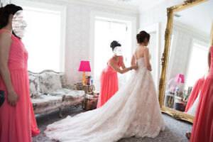 Lace A-Line Champagne Ivory Wedding Dress by Allure Bridal