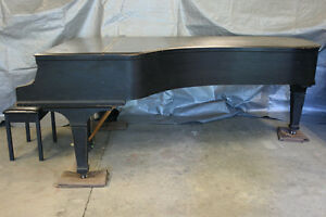 "Knabe 8'10"" Concert Grand Piano, Needs $40K Restoration"