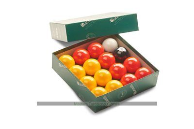 Aramith League Pool Balls - Red and Yellow - 1 and 7/8 inch