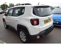 2016 Jeep Renegade 1.4 MultiAir II Longitude (s/s) 5dr Petrol white Manual