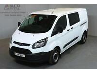 FORD TRANSIT CUSTOM 2.2 290 DCB 99 BHP L2 H1 LWB LOW ROOF 6 SEATER COMBI VAN