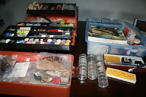 HUGE FLY TYING Lot, Books, Materials, Hooks,