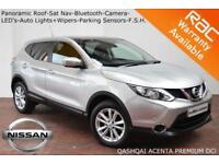 2014 Nissan Qashqai 1.6dCi (130ps) Acenta Premium-NAV-CAMERA-PAN ROOF-F.S.H.
