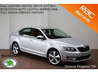 2014 Skoda Octavia 2.0TDI CR (150ps) DSG Elegance-LEATHER-NAV-HEATED SEATS-FSSH