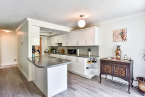 White Rock hillside ocean view condo with stunning sunsets!!