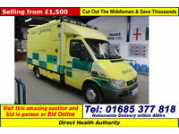 2005 - 05 - MERCEDES SPRINTER 416 2.7CDI UV MODULAR BODY AMBULANCE / CAMPER