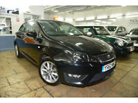 2013 Seat Ibiza 1.6 TDI CR FR Sport Coupe 3 Doors/ FSH/ 17K/ SATNAV/ FINANCE