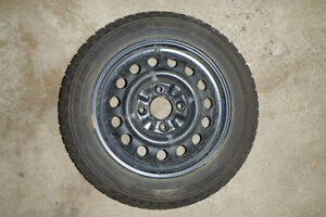 GOODYEAR NORDIC 195/55R15 tires on rim. Excellent condition! Kitchener / Waterloo Kitchener Area image 2