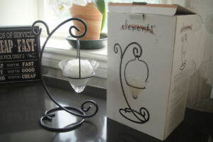 Elements-Wrought-Iron-finish Votive-Candle-Holder