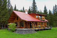 Pioneer Log Home with 24 acres on Horsefly River - Waterfront