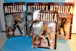 Set 4 METALLICA McFarlane Rock Band Action Figures Toys 2001