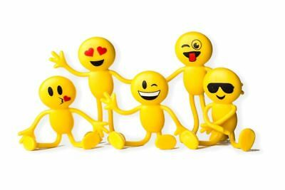 12pcs Emoji Party Favor Fun Toys 4.5cm Emoji Smiley Face Emotion Bendable Figure](Party Smiley Face)
