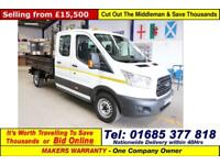 2016 - 16 - FORD TRANSIT T350 2.2TDCI 125PS SRW CREW CAB TIPPER (GUIDE PRICE)