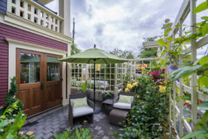 Luxury two-bedroom, two-bath townhouse in Kits heritage house