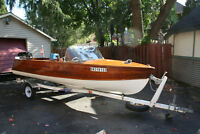 Peterborough Cedar Strip with 35 hp Mercury Outboard- NEW PRICE!