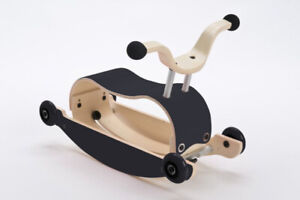 Wishbone Mini-Flip Mix & Match in Black - 2-in-1 Push, Scoot and