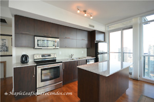 TWO FULL BEDROOMS & BATHROOMS CORNER SUITE AT MAPLE LEAF SQUARE