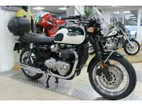 2017 Triumph Bonneville T120 Two Tone. Low Miles. One Owner. Truly Eye Catching.