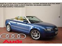 2005 Audi A4 Cabriolet 2.5TDI CVT Sport-FULL LEATHER-ELECTRIC ROOF-LOW MILES-