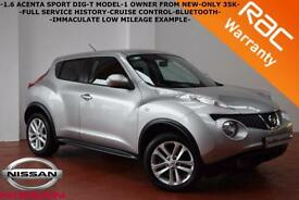 2012 Nissan Juke 1.6 DIG-T Acenta Sport-ONLY 35K-1 OWNER-B/TOOTH-CRUISE-FINANCE