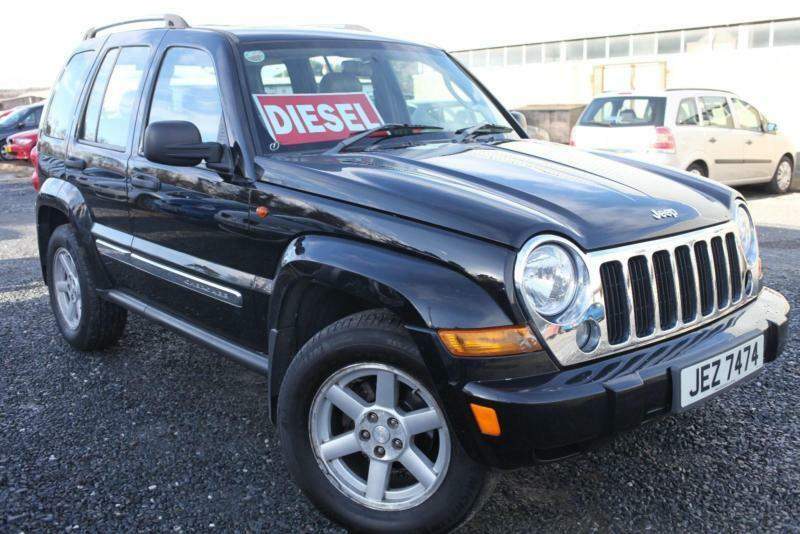 2006 Jeep Cherokee 2 8 Crd Limited Black Full Leather Interior Long Mot In Bangor