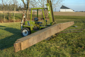 Antique Tapered Hand-Hewn Barn Beam .. -- 30.5 ft -- London Ontario image 6