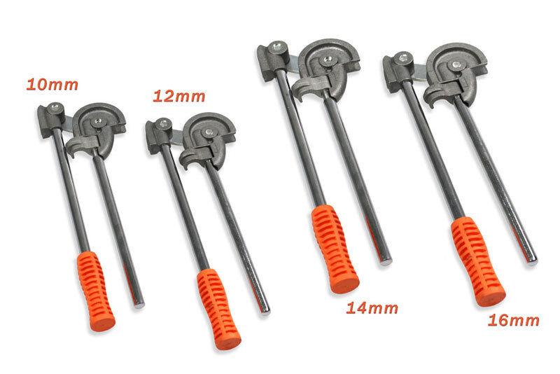 Pinze piegatubi curvatubi per tubi metallici rame 4 pz misure 10 12 14 16 mm