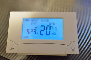 Program thermostat touch screen