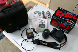 Canon EOS Rebel T3i + 18-55 mm Lens Kit with Box + Camera Bag