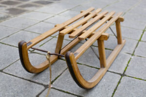 Classic European wooden sled -- for kids and adults