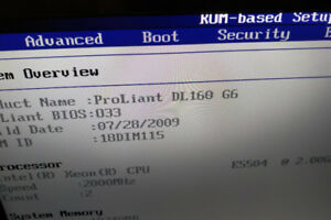 1U 2 x Quad core server with rails - HP Proliant D160 G6