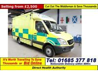 2007 - 07 - MERCEDES SPRINTER 515 2.2CDI AUTO UV MODULAR BODY AMBULANCE / CAMPER