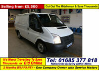 2013 - 13 - FORD TRANSIT T280 2.2TDCI 100PS FWD SWB VAN (GUIDE PRICE)