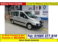 2009 - 59 - FIAT SCUDO 1.6D 90PS MULTIJET 5 SEAT DISABLED ACCESS BUS GUIDE PRICE